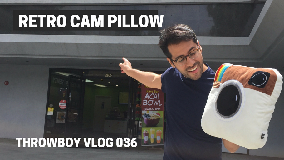 Limited Edition Retro Cam Pillow - Throwboy Vlogs 036