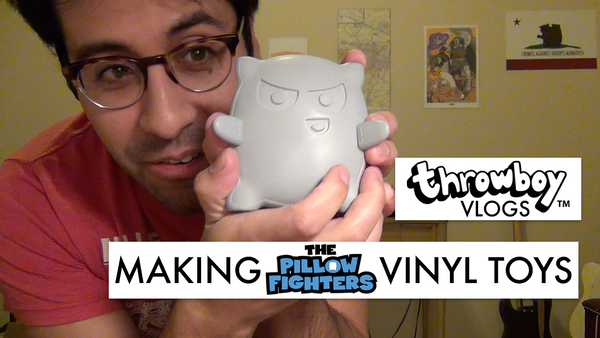 Throwboy Vlogs 032 | Making The Pillow Fighters Vinyl Toys
