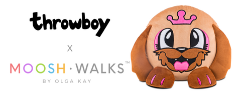 Throwboy x Mooshwalks promo picture with pillow