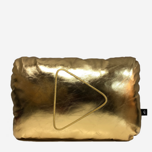Gold Play Button Pillow