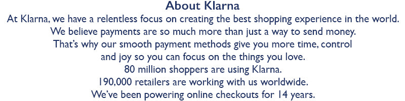 Klarna, payments made simple