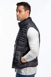 """Rannoch"" Mens Quilted Gilet In Black"
