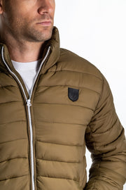 """Aire"" Mens Quilted Jacket In Green"