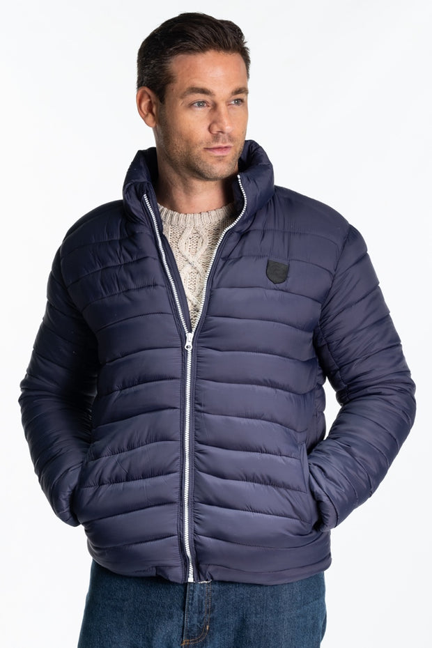 """Aire"" Mens Quilted Jacket In Navy"