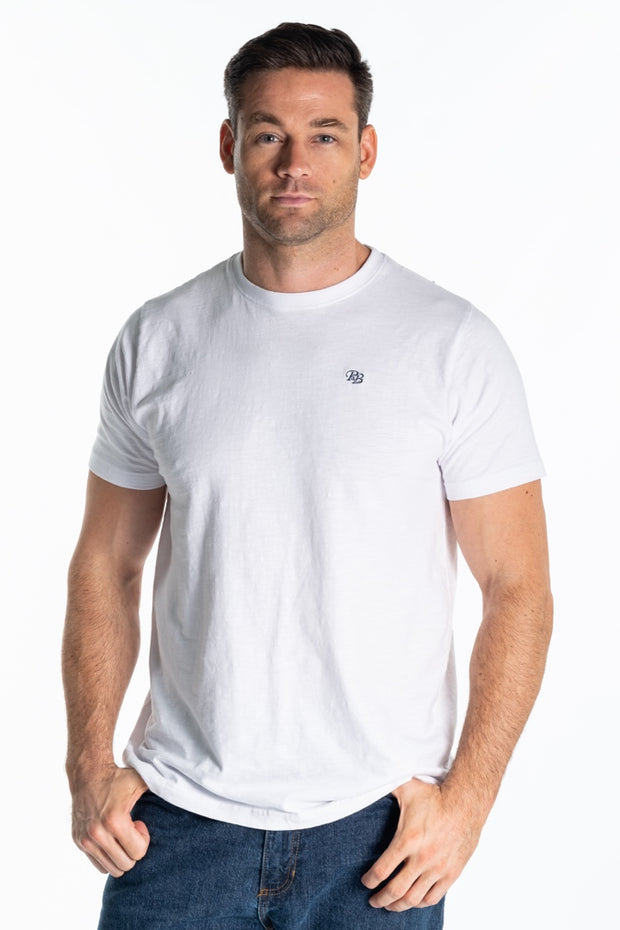 """Baine"" Mens Classic T Shirt In White"