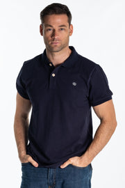 """Itchen"" Mens Heavyweight Pique Polo In Navy"