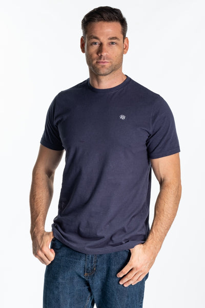 """Baine"" Mens Classic T Shirt In Navy"