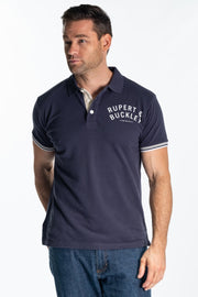 """Ely"" Mens Heavy Cotton Pique Polo In Blue"
