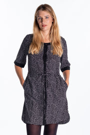 """Veyatie"" Ladies Printed Shirt Dress"