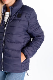 """Chelt"" Ladies Lightweight Quilted Jacket In Navy"