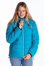 """Chelt"" Ladies Lightweight Quilted Jacket In Teal"
