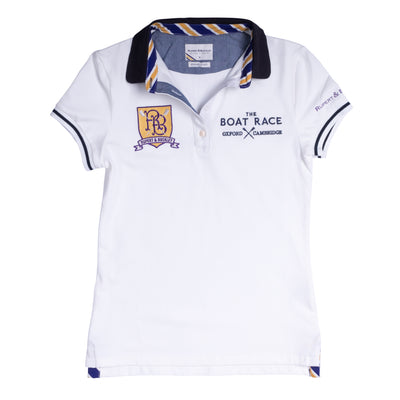 The Boat Race Retail Range Ladies Polo - Ice White