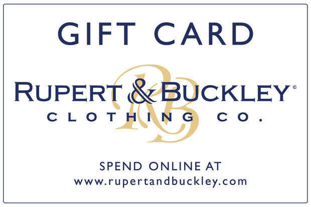 Rupert and Buckley Gift Card