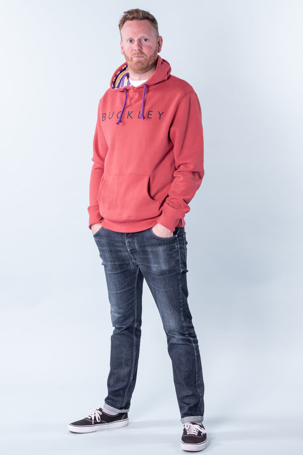 Wilsham Graphic Hoodie Sports Red