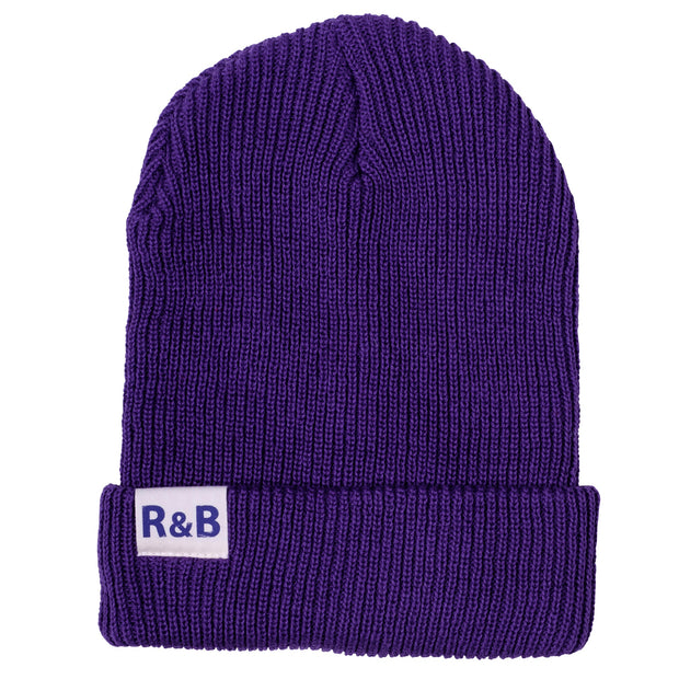 Parbrook Rib Knit Beanie Purple