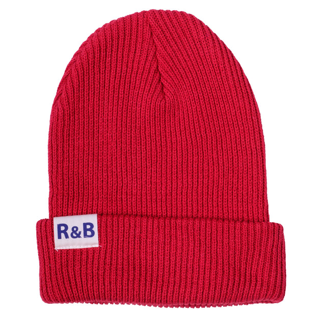 Parbrook Rib Knit Beanie Red