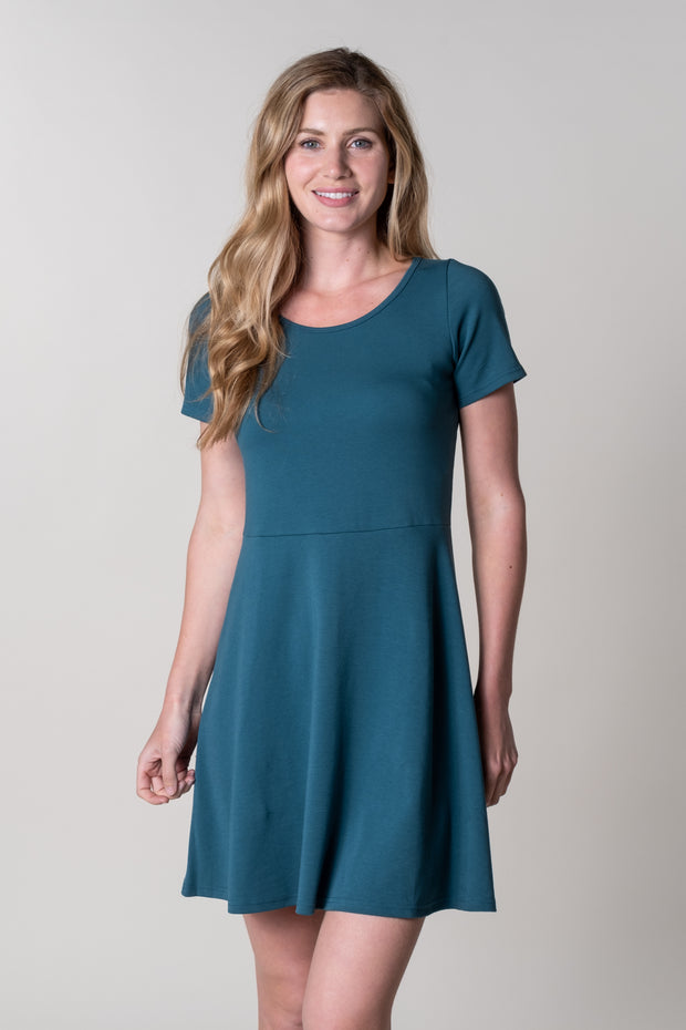 Harberton Fit N Flare Dress In Teal