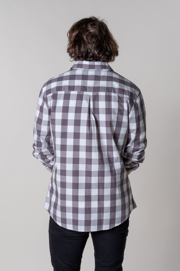 Rew Check Shirt in Grey