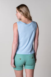 Brixham Boxy Vest in Blue