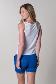 Brixham Boxy Vest In White