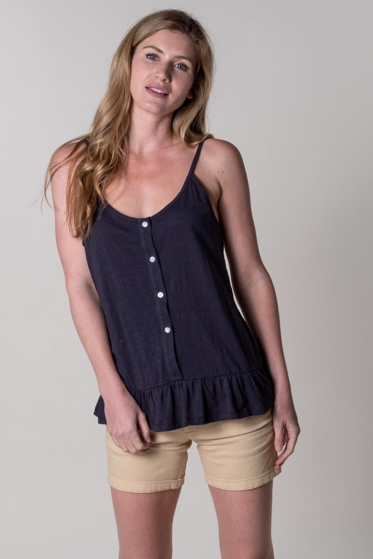 Dittisham Jersey Vest In Night Grey