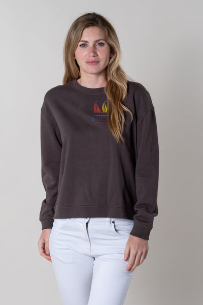 Bantham Graphic Crew Neck Jersey in Night Grey