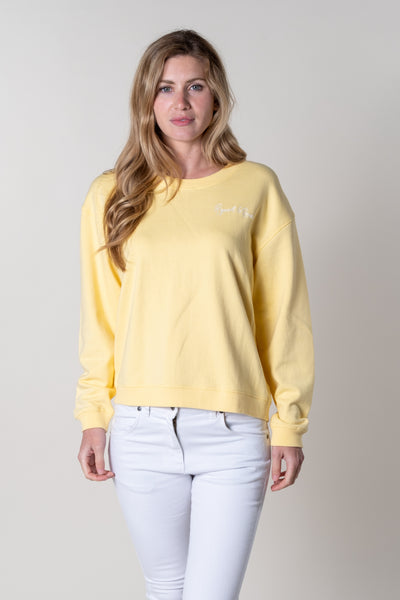 Bantham Graphic Crew Neck In Primrose
