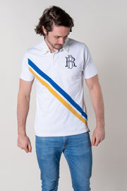 Bantham Short Sleeve Rugby Top In White