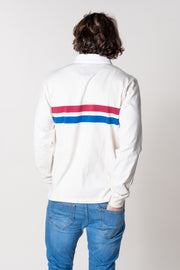 Landscove Stripe Rugby Shirt In White