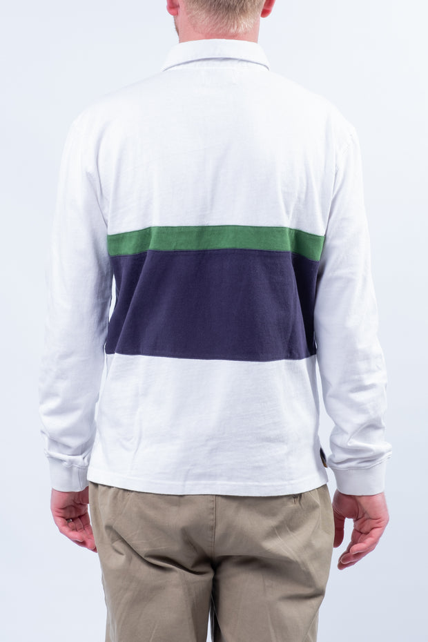 Parracombe Longsleeve Rugby Top In White