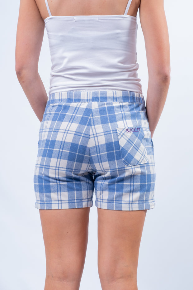 Bideford Lounge Shorts in Royal Check