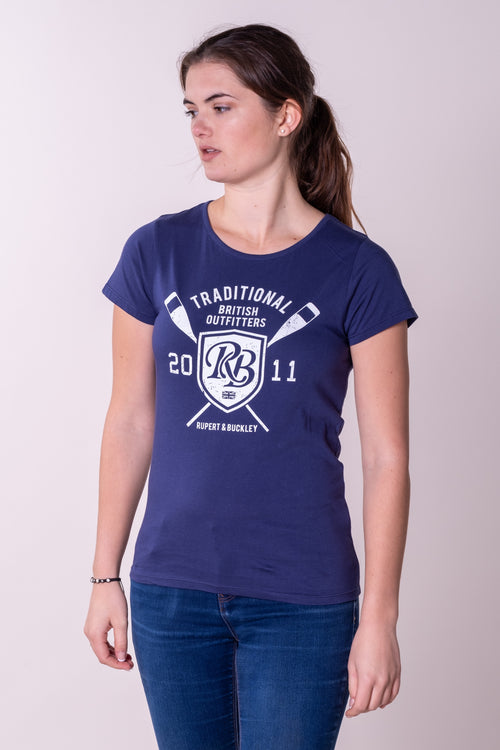 Chelfham Graphic T-Shirt Sea Navy
