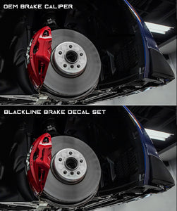 Toyota GR Supra 2020+ (A90) BLACKLINE Performance Brake Caliper Decal Set