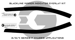 BMW 2/3/4 Series (F Chassis) BLACKLINE Mirror Indicator Overlay Kit