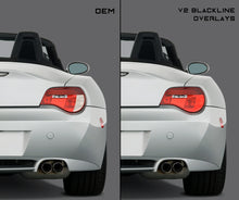 Load image into Gallery viewer, BMW Z Series Z4 2006-2008 (E85/E86 LCI) BLACKLINE Taillight Overlay Kit