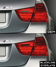 Load image into Gallery viewer, BMW 3 Series M3 2009-2011 (E90/E91 LCI) BLACKLINE Taillight Overlay Kit
