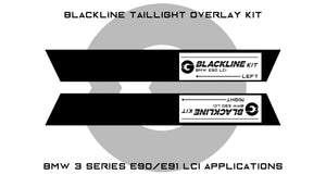 BMW 3 Series M3 2009-2011 (E90/E91 LCI) BLACKLINE Taillight Overlay Kit