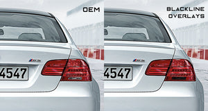 BMW 3 Series M3 2011-2013 (E92/E93 LCI) BLACKLINE Taillight Overlay Kit