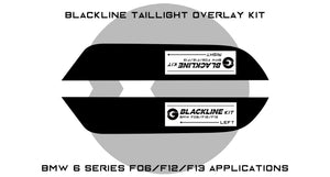 BMW 6 Series 2011-2018 (F06/F12/F13) BLACKLINE Taillight Overlay Kit
