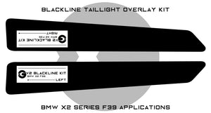 BMW X2 Series 2019+ (F39) BLACKLINE Taillight Overlay Kit