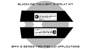 BMW 3 Series M3 2016-2018 (F30/F80 LCI) BLACKLINE Taillight Overlay Kit