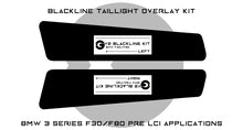 Load image into Gallery viewer, BMW 3 Series M3 2011-2015 (F30/F80 Pre LCI) BLACKLINE Taillight Overlay Kit