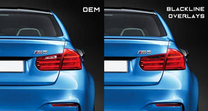 BMW 3 Series M3 2011-2015 (F30/F80 Pre LCI) BLACKLINE Taillight Overlay Kit