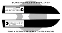 Load image into Gallery viewer, BMW 4 Series M4 2017+ (F32/F82 LCI) BLACKLINE Taillight Overlay Kit