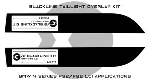 BMW 4 Series M4 2017+ (F32/F82 LCI) BLACKLINE Taillight Overlay Kit