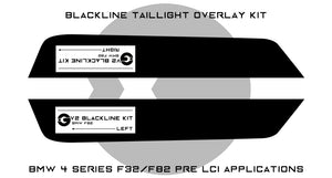 BMW 4 Series M4 2013-2016 (F32/F82 Pre LCI) BLACKLINE Taillight Overlay Kit