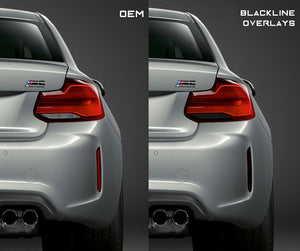 BMW M2 / M2 Competition (F87) BLACKLINE Rear Reflector Overlay Kit