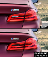 Load image into Gallery viewer, BMW 5 Series 2017-2020 (G30/F10 Pre LCI) BLACKLINE Taillight Overlay Kit
