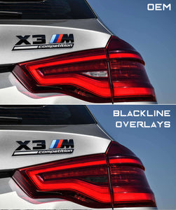 BMW X3 Series X3M Competition 2018+ (G01/F97) BLACKLINE Taillight Overlay Kit
