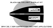 Load image into Gallery viewer, BMW X3 Series X3M Competition 2018+ (G01/F97) BLACKLINE Taillight Overlay Kit